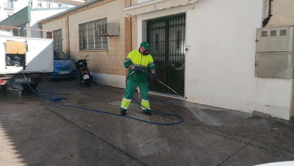 Trabajos de desinfección en Ubrique