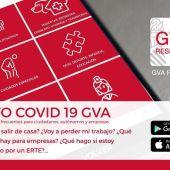 'GVA Responde', aplicación de la Generalitat para resolver dudas no sanitarias sobre la pandemia.