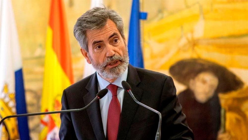 El Presidente del Consejo General del poder judicial y del Tribunal Supremo, Carlos Lesmes.