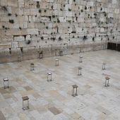 El Muro de las Lamentaciones vacío en la Ciudad Vieja de Jerusalén