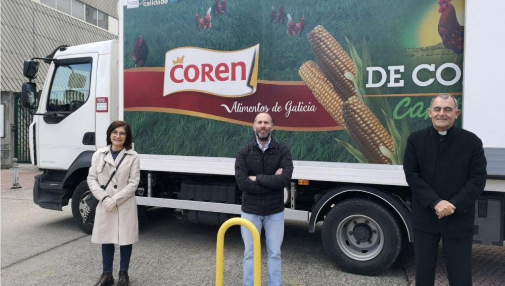 Productos de Cores, entregados polo concello de Ourense a Cáritas
