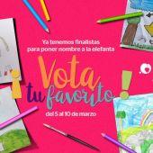 Cabárceno abre la votación popular en Facebook para elegir el nombre de la elefanta nacida en febrero