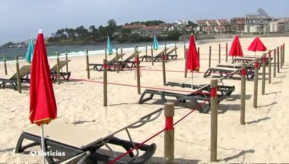 La playa de Sanxenxo se dividirá en 780 cuadrículas en verano para eviotar contagios por coronavirus