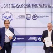 Banco de alimentos de Gipuzkoa y la Diputación de Gipuzkoa firman un acuerdo