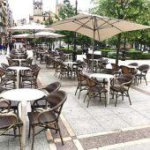 Terraza hostelera en Gijón