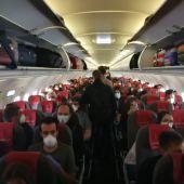 Imagen del interior del vuelo IB3838 Madrid - Las Palmas de GC