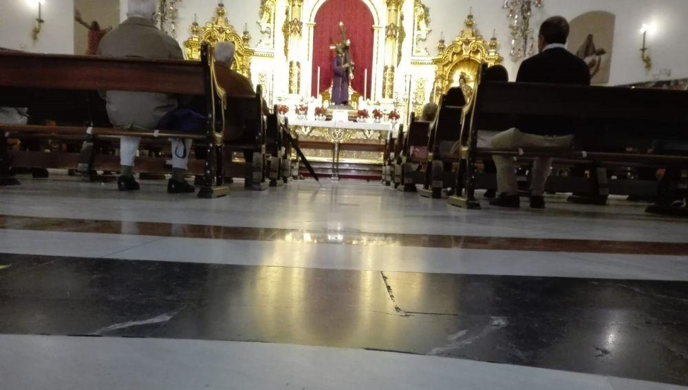 Imagen del interior de la Basílica del Gran Poder