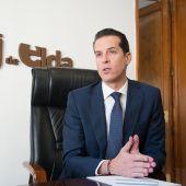 El alcalde de Elda, Rubén Alfaro.