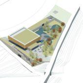 Vista aérea del diseño de CIMED.