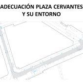 Proyecto de peatonalización de la Plaza de Cervantes y su entorno
