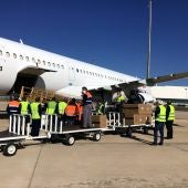 Primer vuelo del corredor aéreo que aterrizó en Ciudad Real el pasado 18 de mayo