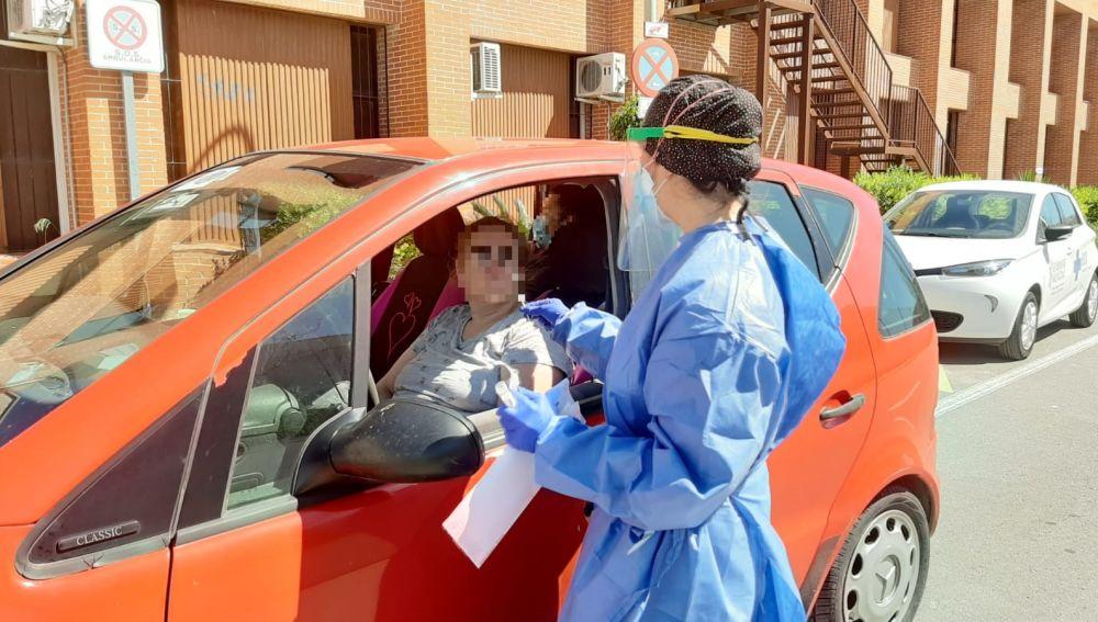 Test de coronavirus en Santa Pola.