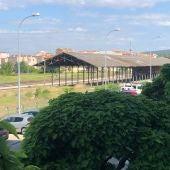 Tejados de uralita junto a la estación del tren convencional de Cuenca