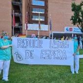 Movilización en el Hospital Príncipe de Asturias