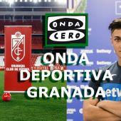 Vallejo, jugador del Granada y Óscar Rodríguez, jugador del Leganés