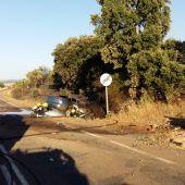 El vehículo se salió de la carretera