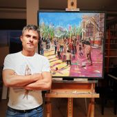Juan Francisco Gómez Cambronero pintor daimieleño