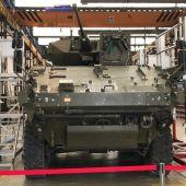 Prototipo del nuevo blindado 'Dragón' que se ensamblará en Alcalá de Guadaíra