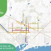 Pla de mobilitat de l'Ajuntament de Barcelona durant el desconfinament