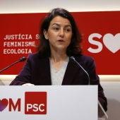 Eva Granados, a la seu del PSC