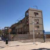 Viejo hotel de Arenales del Sol de Elche.