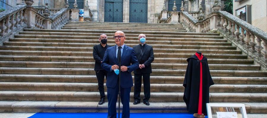 """Manuel Baltar en el homenaje del """"Gaiteiro de la Catedral"""" a las víctimas del COVID-19 - 1"""