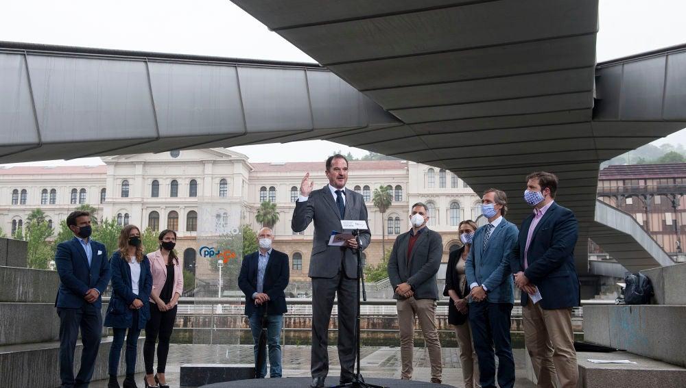 El candidato del PP-Cs a las Elecciones en el País Vasco, Carlos Iturgaiz