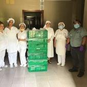 Inicio de la colaboración diaria de alimentos que Mercadona ha iniciado con las Hermanitas de los Pobres de Palma.