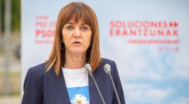 """Idoia Mendía: """"No podemos compartir un Gobierno con quien no condena la violencia terrorista"""""""