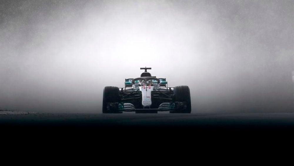 Lewis Hamilton, durante la disputa de un Gran Premio en el Mundial de F1.