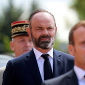 Edouard Philippe, junto a Emmanuel Macron