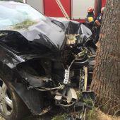 El vehículo chocó contra un árbol en la Avenida de los Reyes Católicos