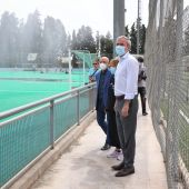 El alcalde, Jorge Azcón, ha visitado hoy las colonias urbanas
