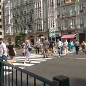 El uso de la mascarilla parece extendido en Santander