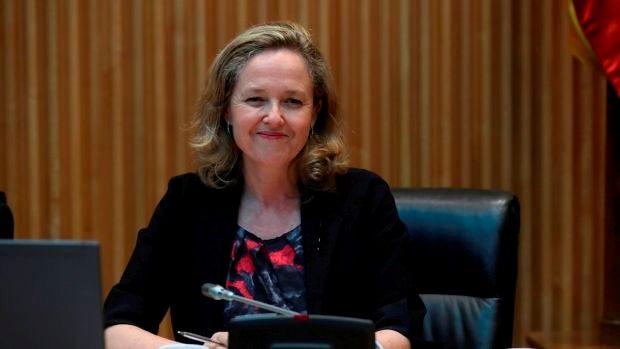 La vicepresidenta económica del Gobierno, Nadia Calviño