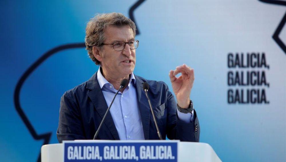 Alberto Núñez Feijóo antes de las elecciones gallegas