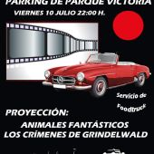 Cartel promocional del estreno del autocine de Rincón de la Victoria