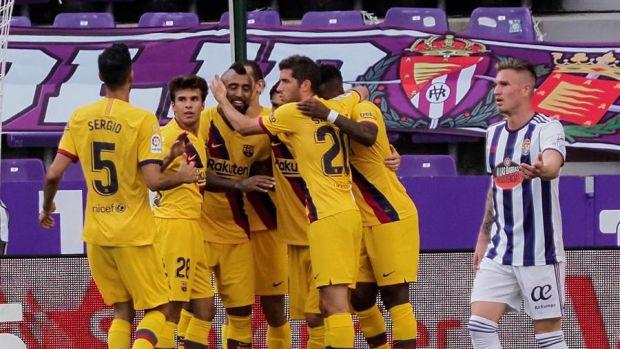 Arturo Vidal marca en Valladolid