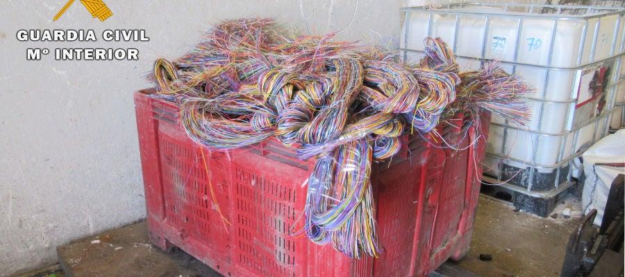 La Guardia Civil intercepta una tonelada de cable sustraído