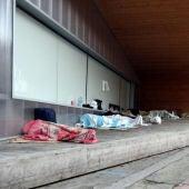 Temporers dormint al Centre Històric de Lleida