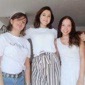 Natalia, Victoria y Constanza, ganadoras del concurso.