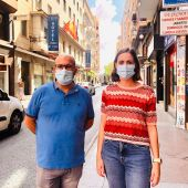 Felip Sánchez y Esther Díez del grupo Compromís per Elx