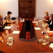 Vergés i Colau en la reunió mixta de seguiment de la covid19
