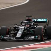 Lewis Hamilton, durante la clasificación del GP de Hungría