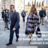 Francisco Ledesma a su llegada a los juzgados de la Caleta