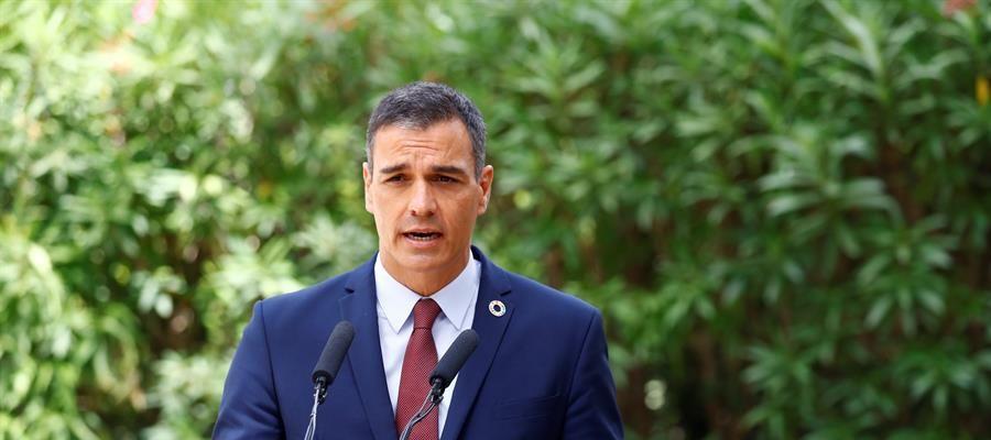 """Pedro Sánchez evita hablar de la imputación de Podemos: """"Máximo respeto al poder judicial"""""""