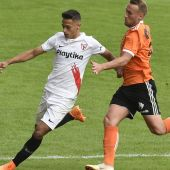 Javier Pérez durante un partido con el Sevilla Atlético