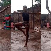 Anthony bailando bajo la lluvia