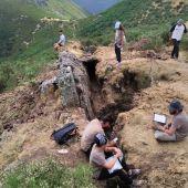 Excavación en Babia de la Universidad de León
