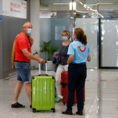 Llegada de turistas a un aeropuerto español